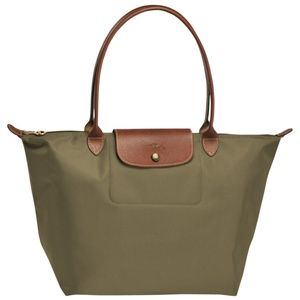 New Longchamp Taupe Large Le Pliage Travel Tote